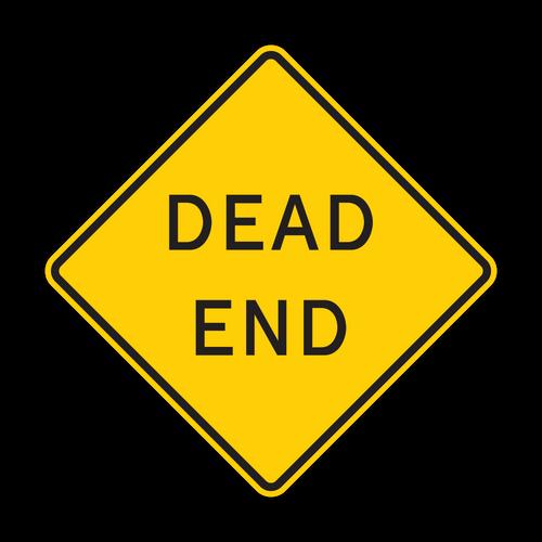 W14-1 Dead End