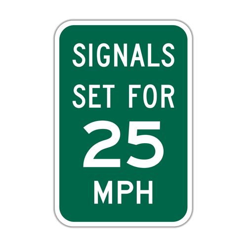 I1-1 Signals Set for XX MPH
