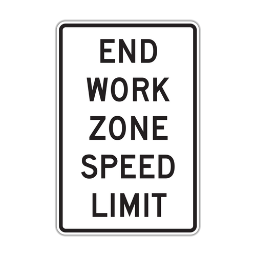 R2-12 End Work Zone Speed Limit