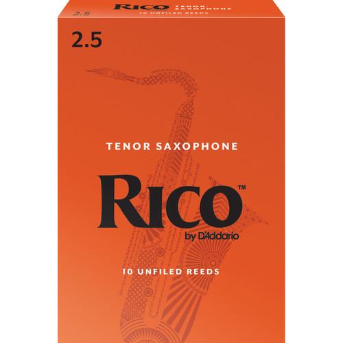 Rico Tenor Sax Reeds, Strength 2.5, 10-pack