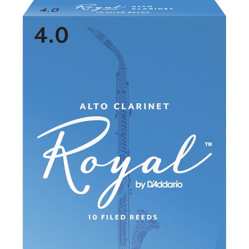 Rico Royal Alto Clarinet Reeds, Strength 4.0, 10-pack
