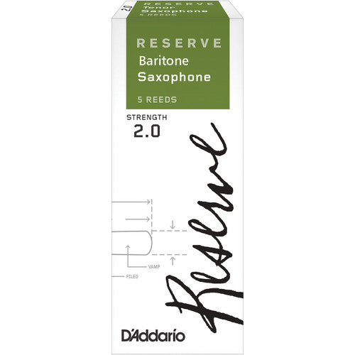 Reserve, Baritone Saxophone Reeds, Strength 2.0, 5-Pack
