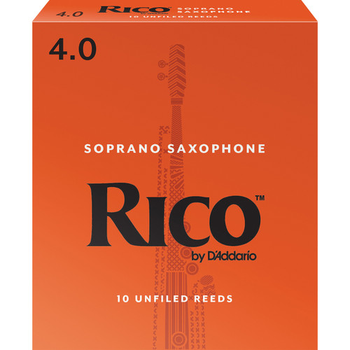Rico Soprano Sax Reeds, Strength 4.0, 10-pack