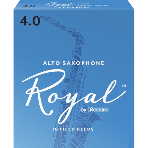 Rico Royal Alto Sax Reeds, Strength 4.0, 10-pack
