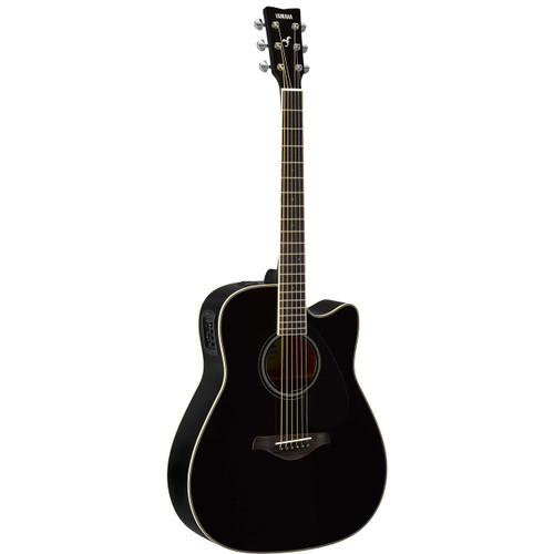 Yamaha Fgx820cbl Acoustic Electric Guitar Black The Instrument Store