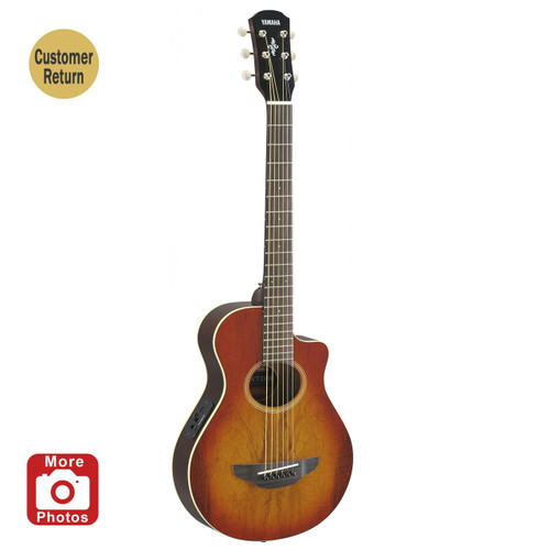 Yamaha APXT2EWLAB Acoustic-Electric Guitar Exotic Wood Light Amber Burst 3/4 Size Customer Return