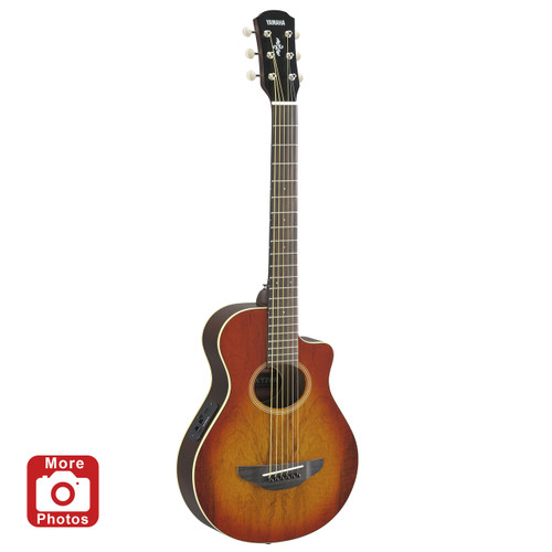Yamaha APXT2EWLAB Acoustic-Electric Guitar; Exotic Wood; Light Amber Burst; 3/4 Size