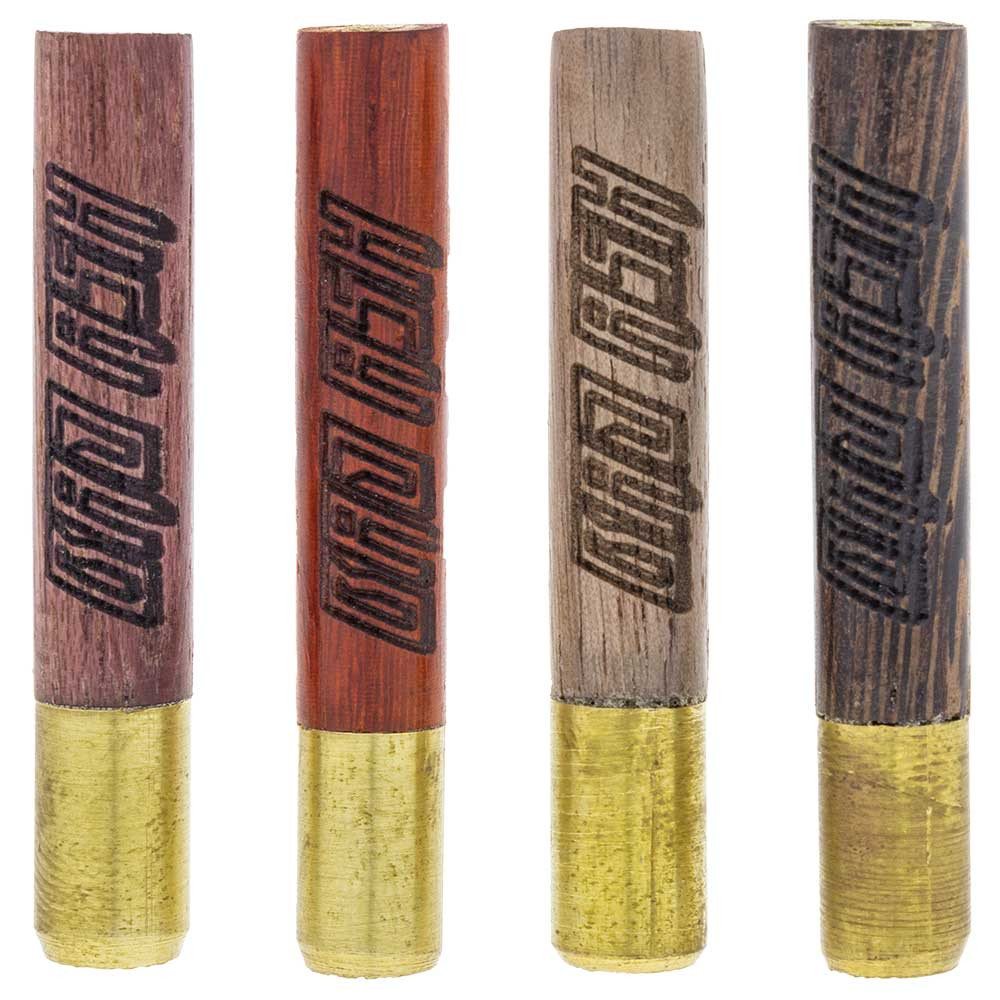 These Bad Ash tasters come in a variety of wood tints. Every order will receive one at random.