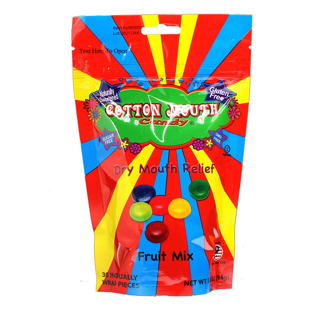 Keep dry mouth away with these juicy gluten free cotton mouth candies.