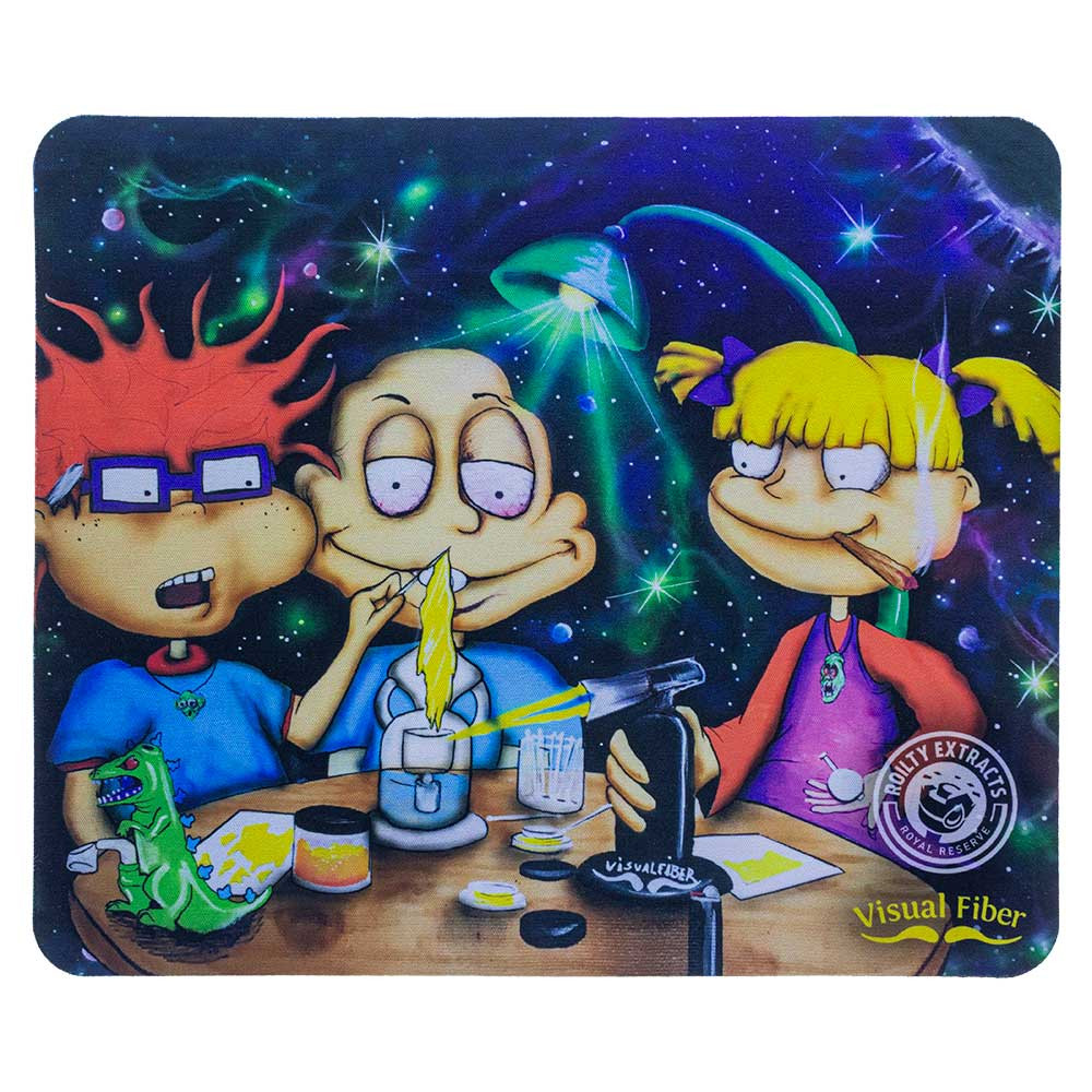 """Rugrats"" Dab pad for sale, featuring characters from a classic show: Tommy, Chuckie, and Angelica."