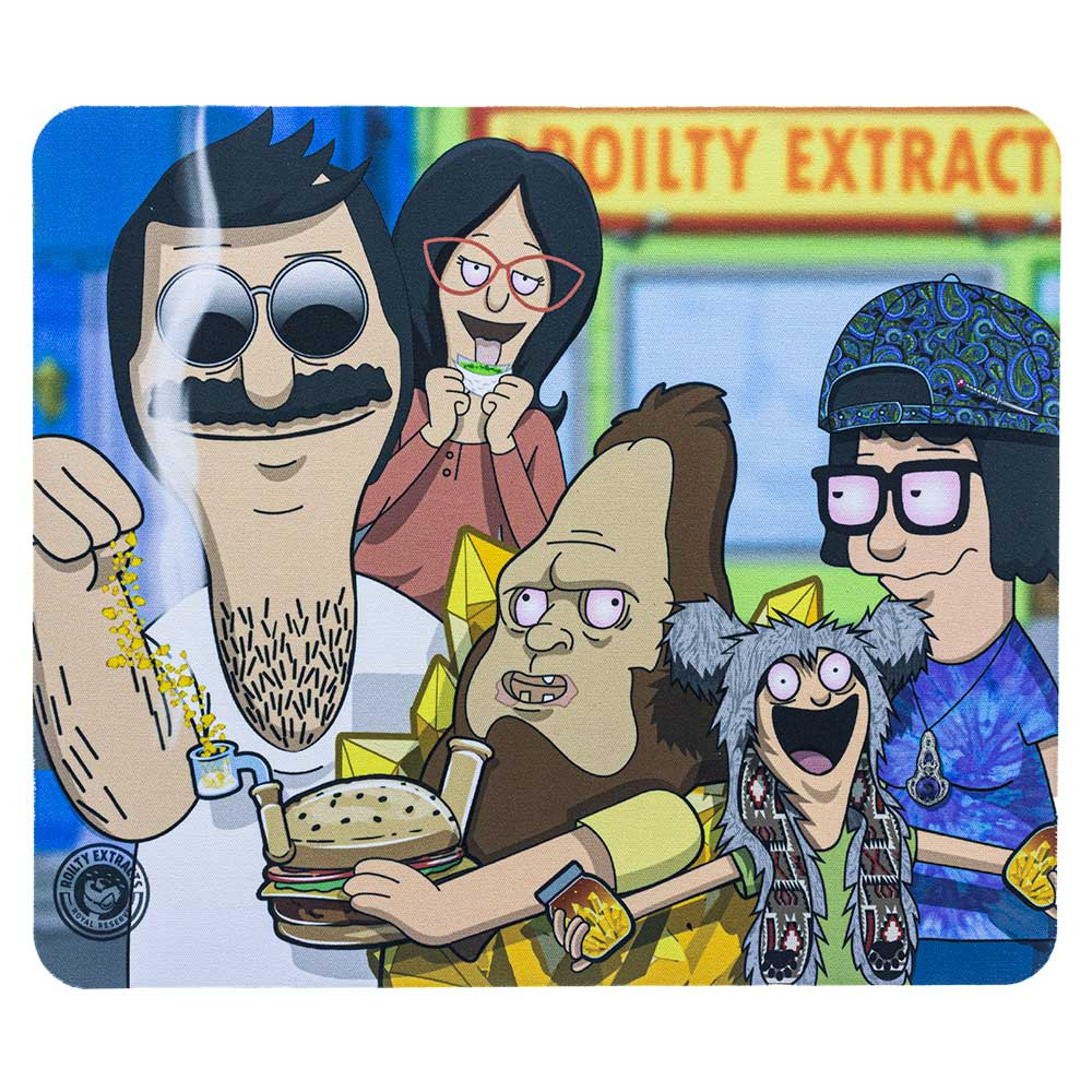 """Bob's Burgers"" square dab pad featuring the Belchers."