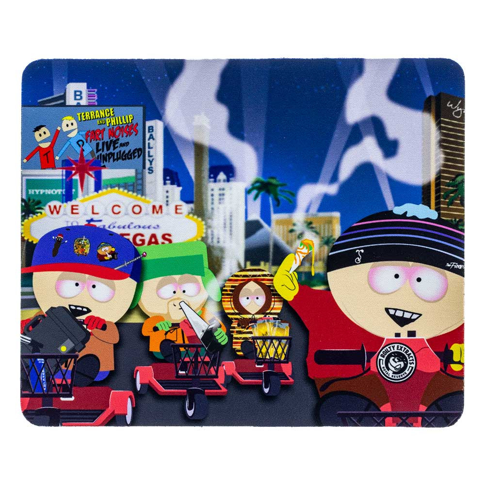 "South Park ""South Park Gang"" square dab pad, featuring Cartman, Stan, Kyle, and Kenny."