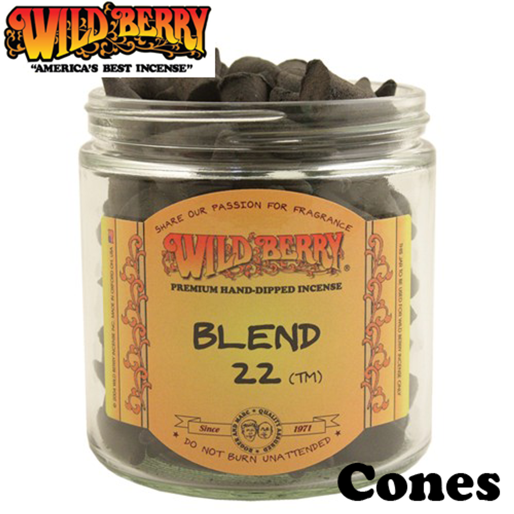Wild Berry Cone Incense, 100 Count
