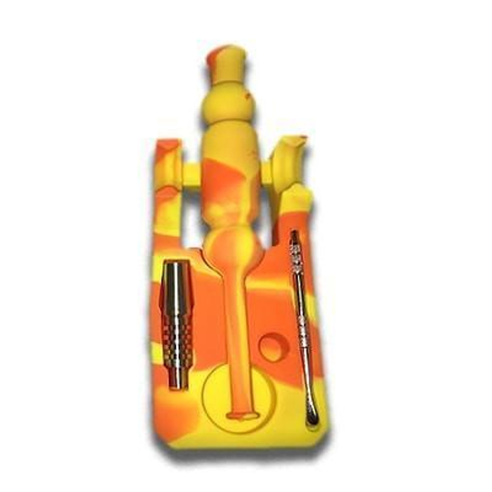 Silicone Nectar Collector Kit orange color for sale lowest price