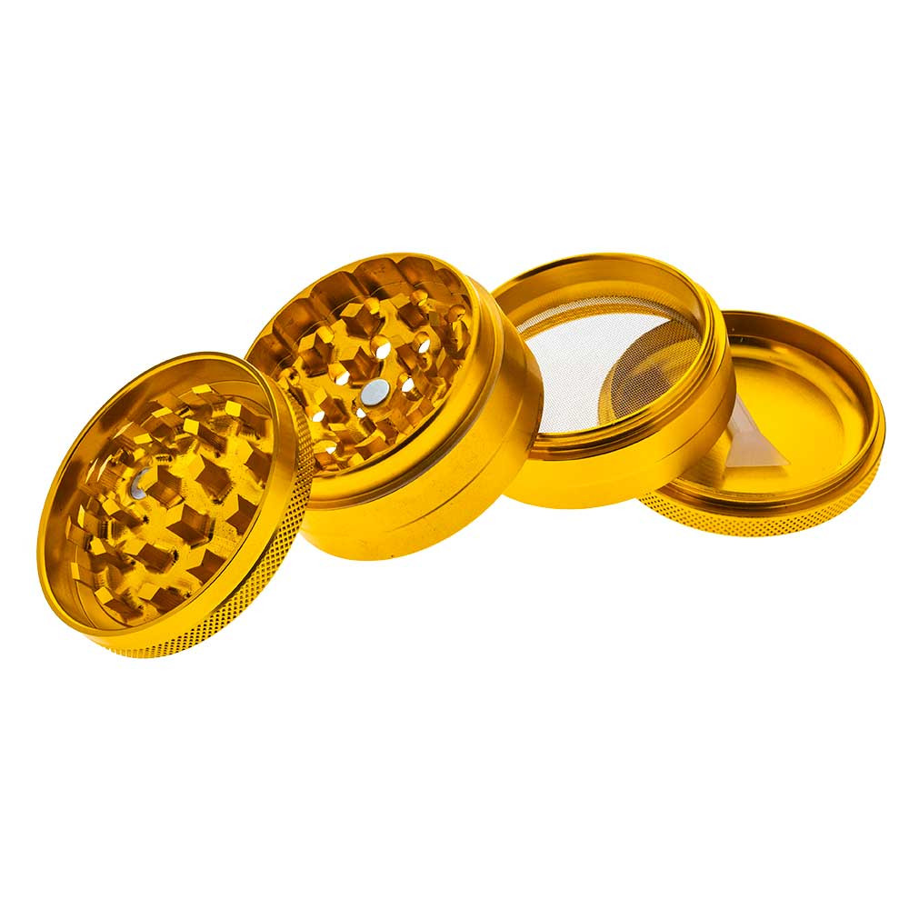 These Concave Grinders are a 3 Chamber, 4 Part design which includes a pollen screen.