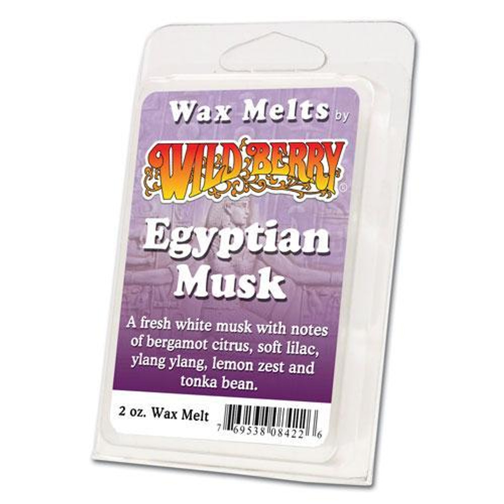 One 2 ounce pack of Egyptian Musk Wax Melt. A fresh white musk with notes of bergamot citrus, soft lilac, ylang ylang, lemon zest and tonka bean.