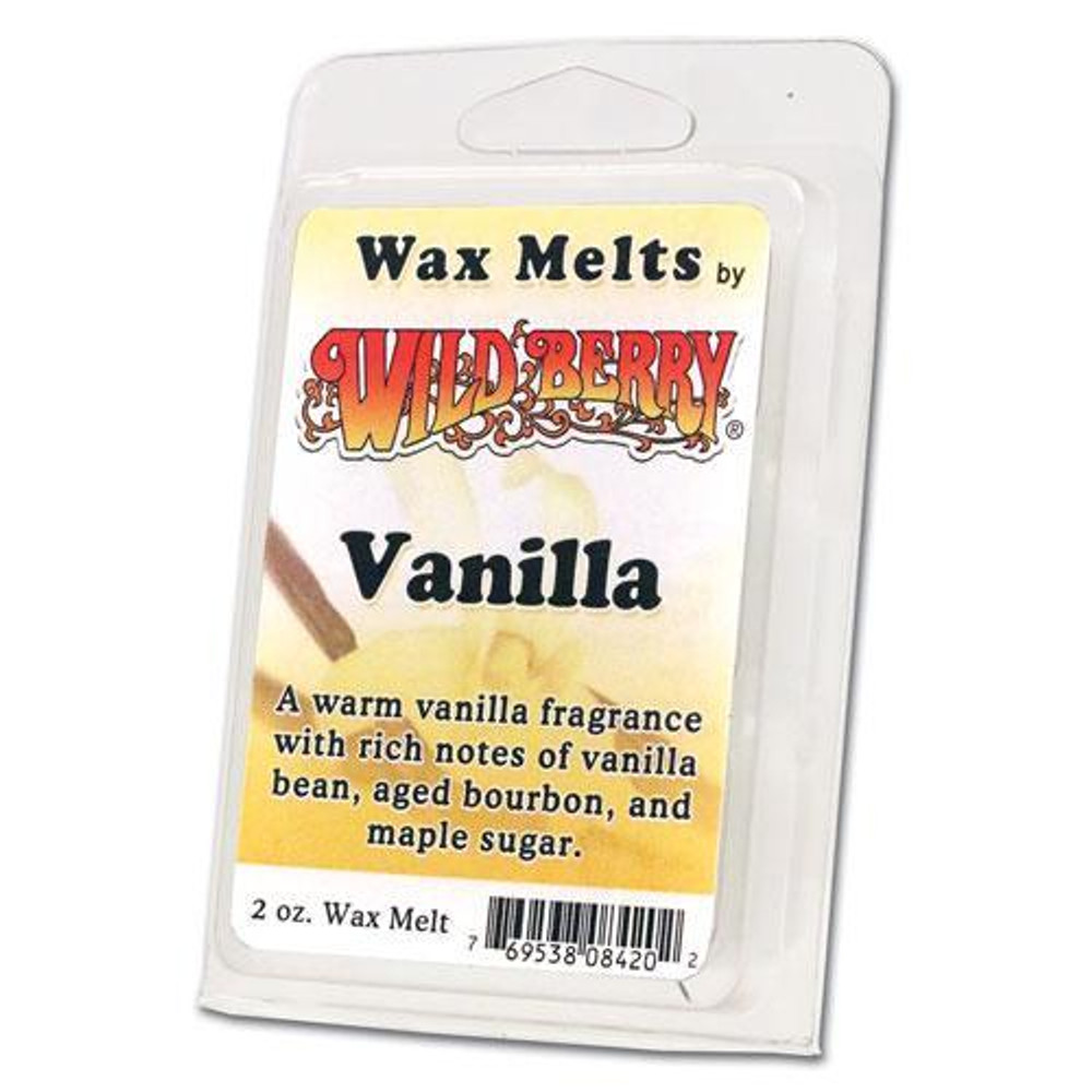One 2 ounce pack of Vanilla Wax Melt. A warm vanilla fragrance with rich notes of vanilla bean, aged bourbon, and maple sugar.