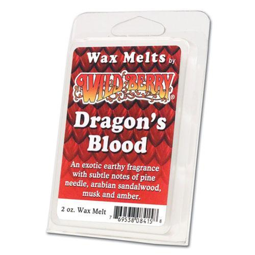 One 2 ounce pack of Dragon's Blood Wax Melt. An exotic earthy fragrance with subtle notes of pine needle, arabian sandalwood, musk and amber. Inspired by the aromatic bright red sap produced by the dracaena draco tree.