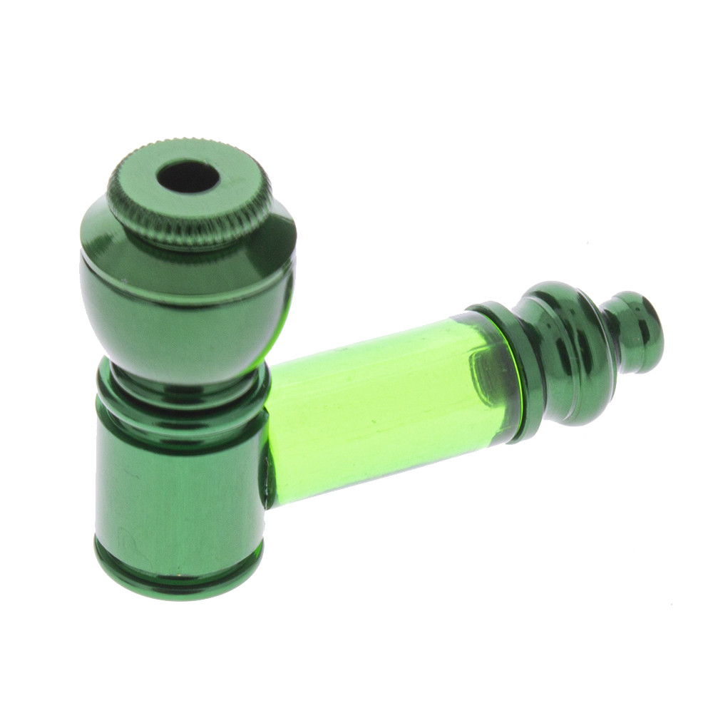 Anodized Pipe with Small Acrylic Stem, Assorted