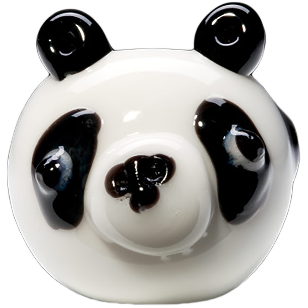 Sculpted panda face on the front of this pipe.