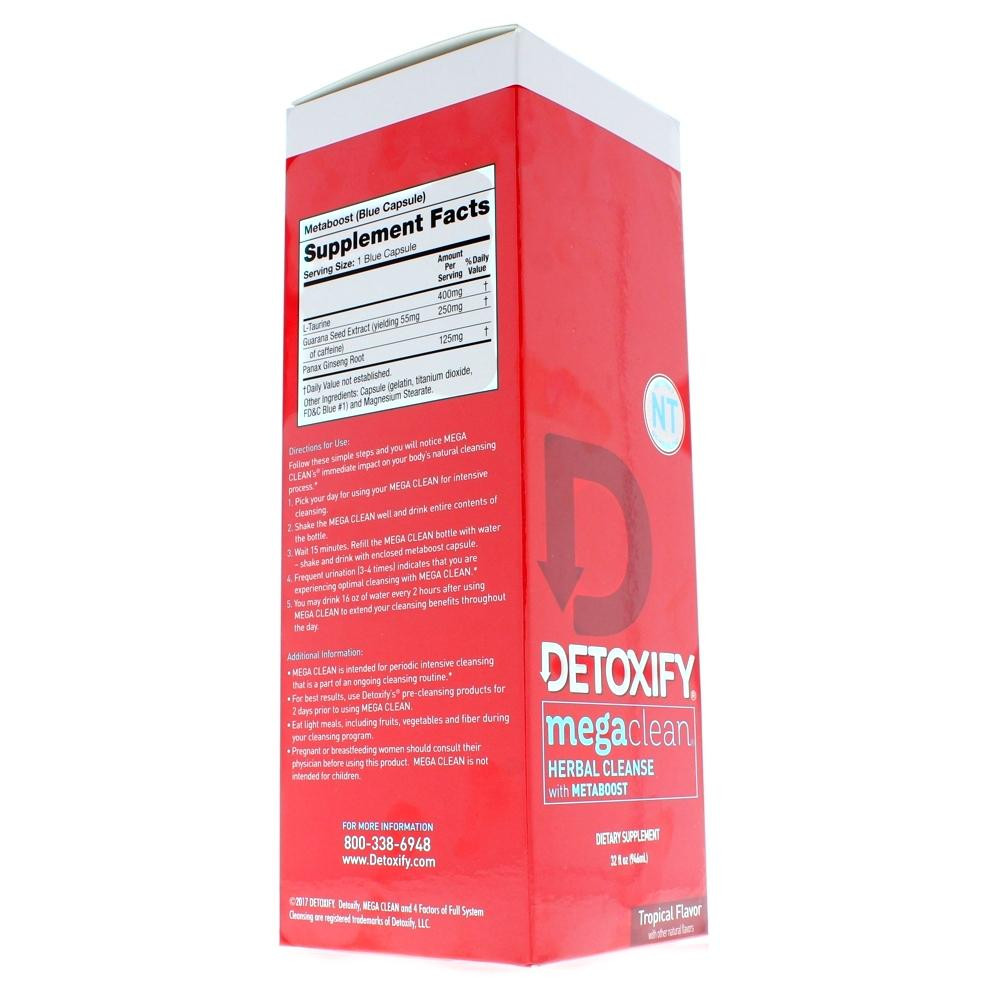 Mega Clean Premium NT with Metaboost 32 oz.  Detox Drink box