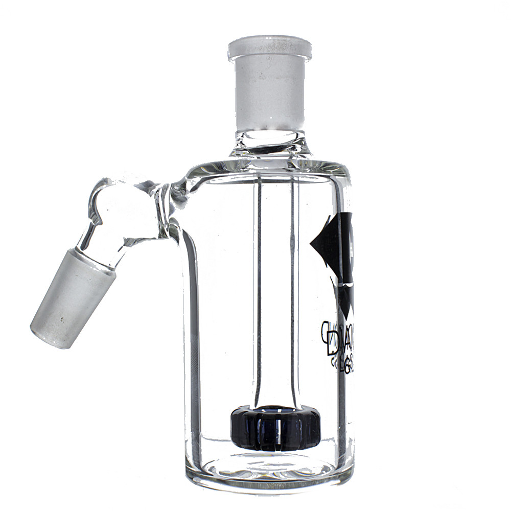 "Diamond Glass ""Jewel"" 14mm Male Ash Catcher with Showerhead Perc, 45 Degree"