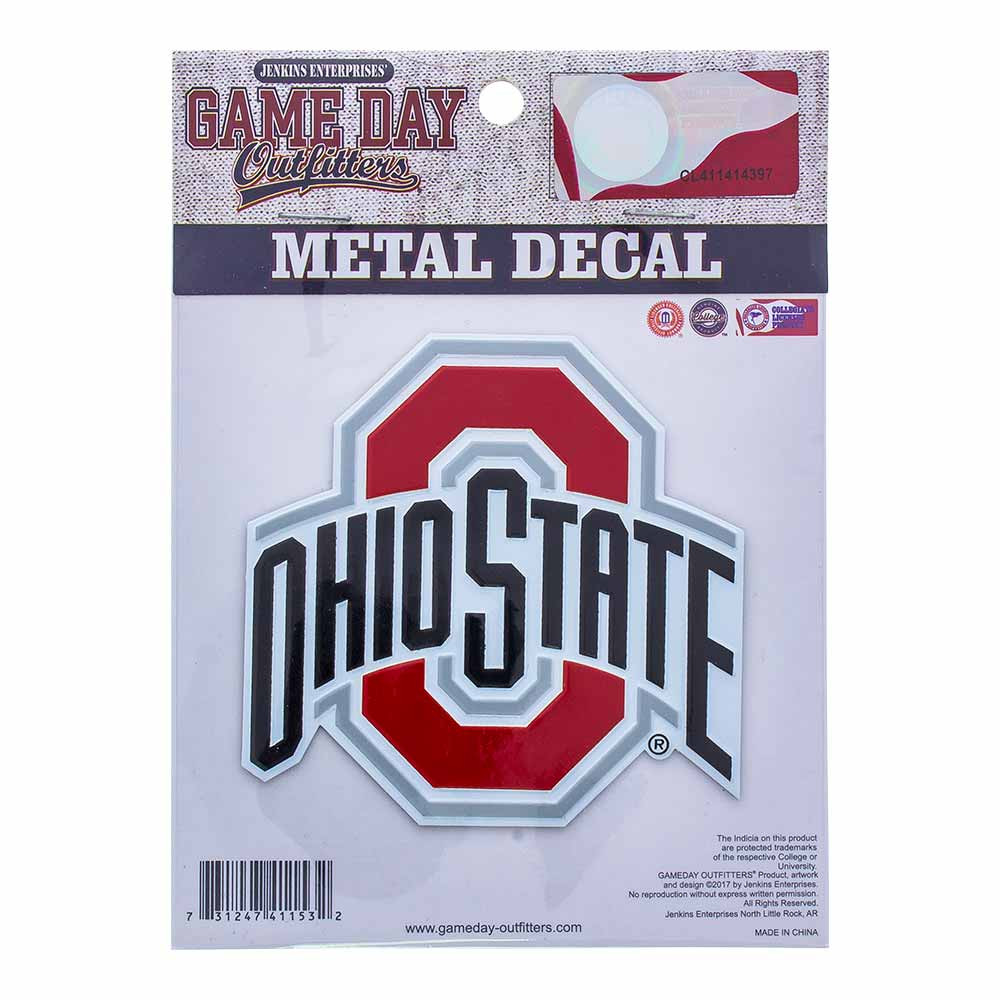 Ohio State Metal Decal