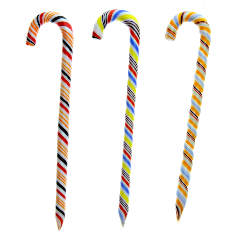 Glass Candy Cane Dabber, Assorted Colors