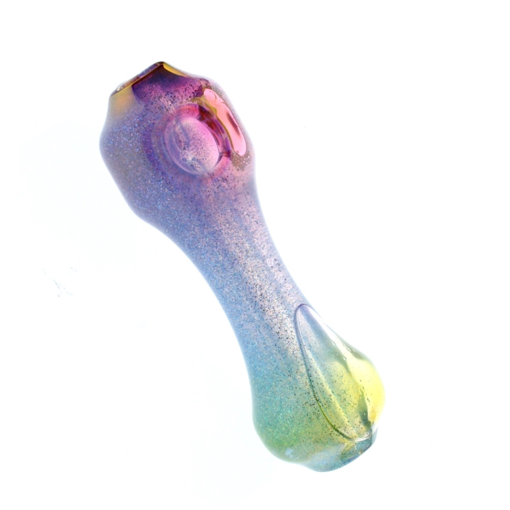 "Liquid Filled Glass Freezer Pipe, ""Enigma"" Rainbow"