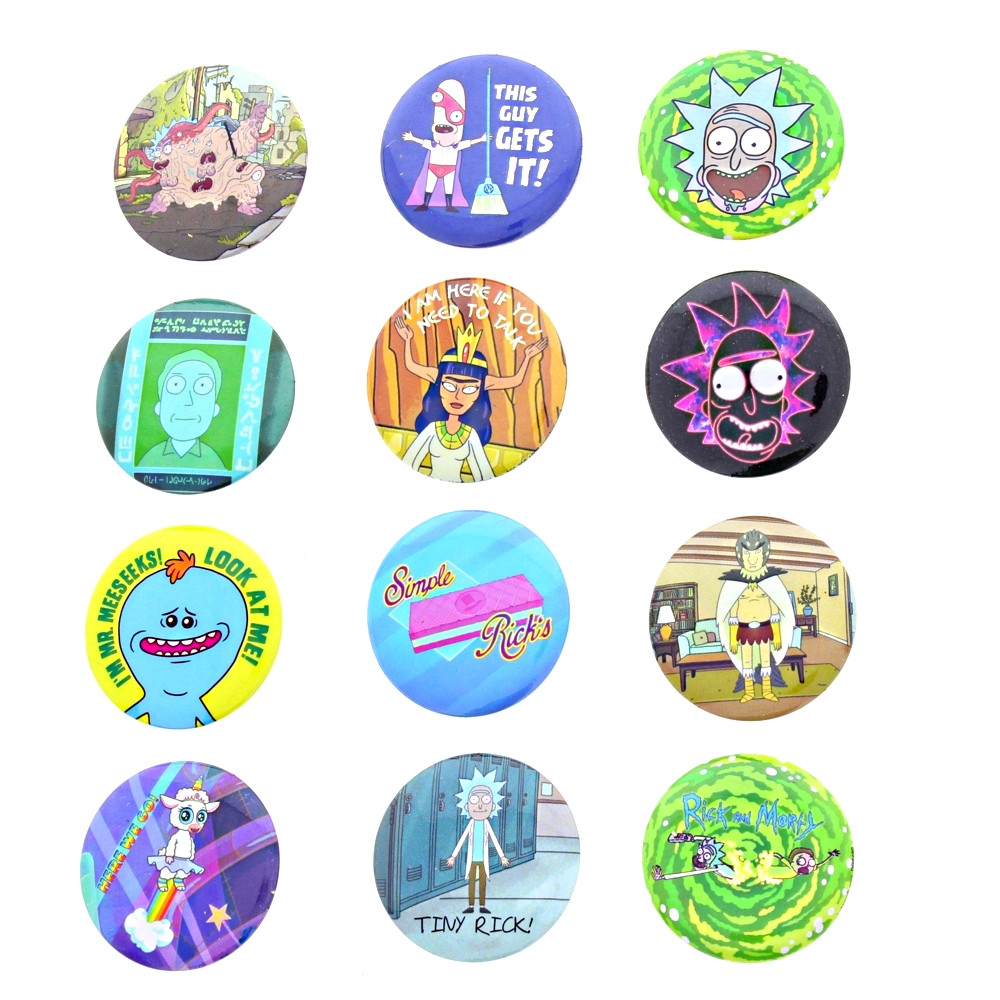 Rick & Morty Buttons various graphics for sale