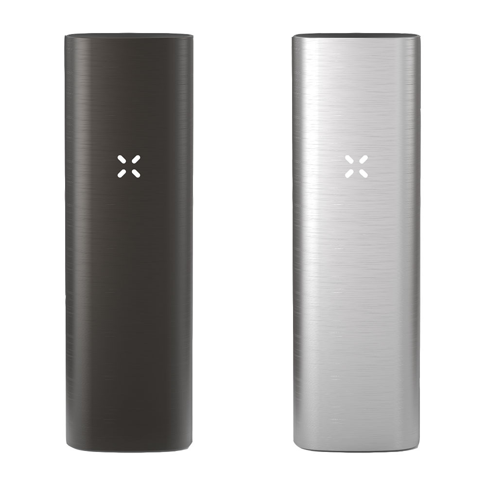 Pax 2 Dry Herb Vaporizer is available in a Charcoal Black or Silver brushed metal finish.