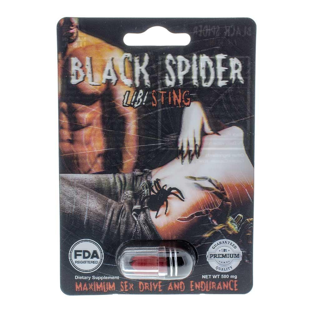 Black Spider Libi Sting Male Sexual Enhancer 3D