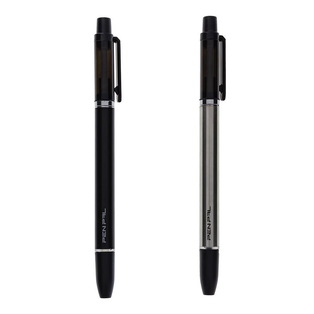 Pen Pal is available in black or silver.