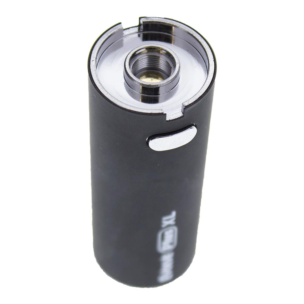 The massive 1400 mAh battery that powers the Yocan Evolve Plus XL features universally accepted 510 threading and supports most other tanks and cartridges. The battery is extra large, through, so a tiny cartridge may look a little out of place when attached.