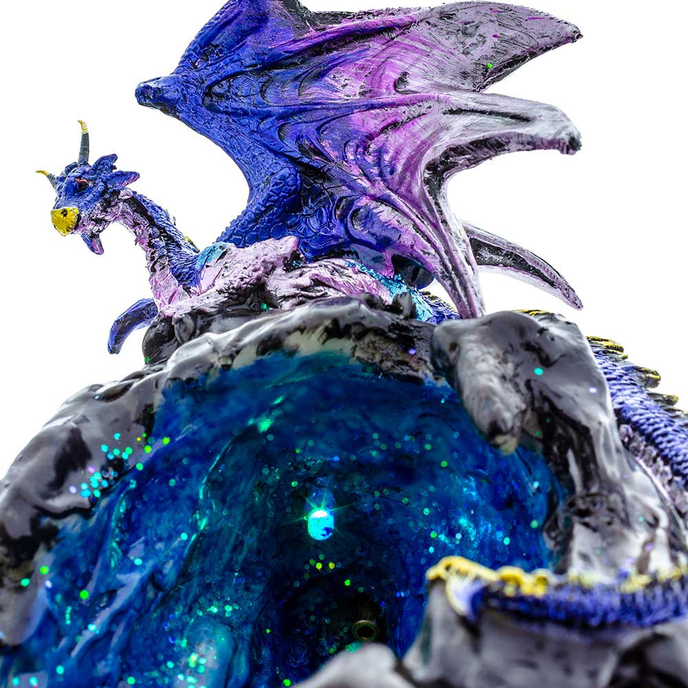 Dragon Cave Blue Backflow Incense Burner close up
