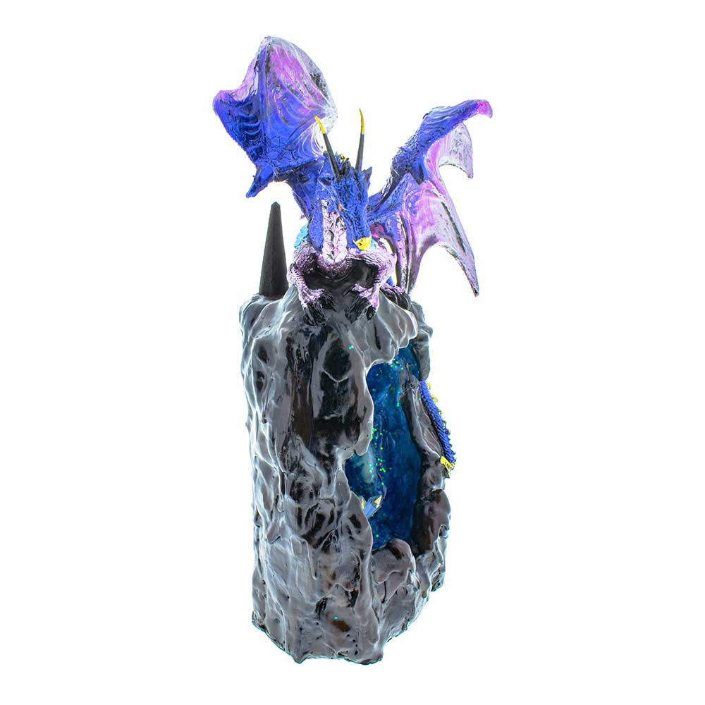 Dragon Cave Blue Backflow Incense Burner side view