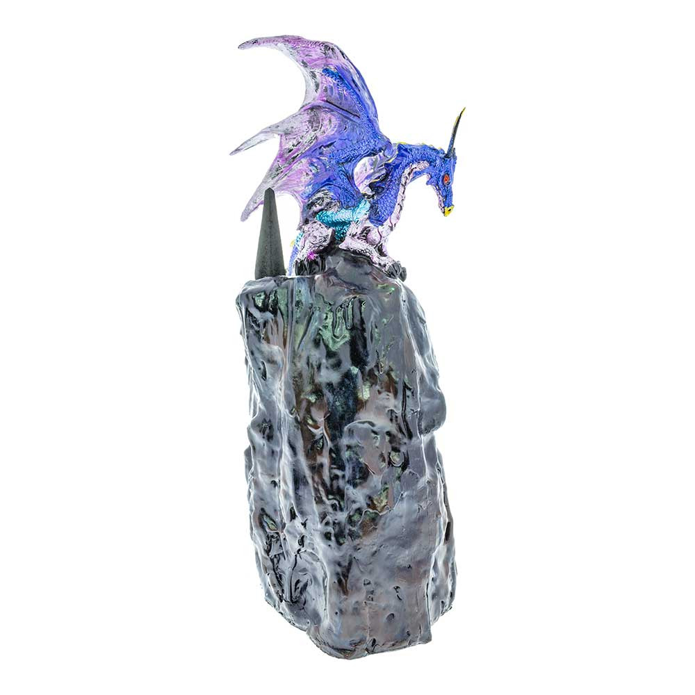 Dragon Cave Blue Backflow Incense Burner right view