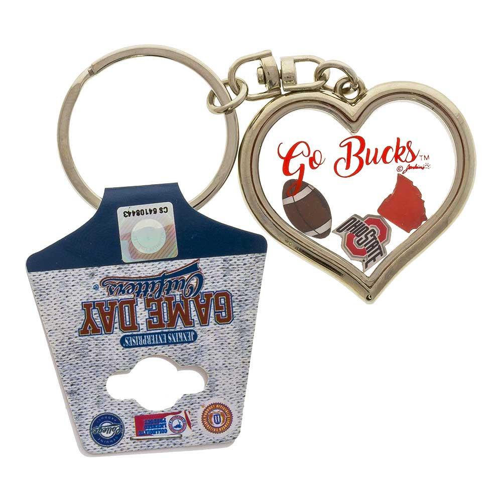 Ohio State Heart Key Chain