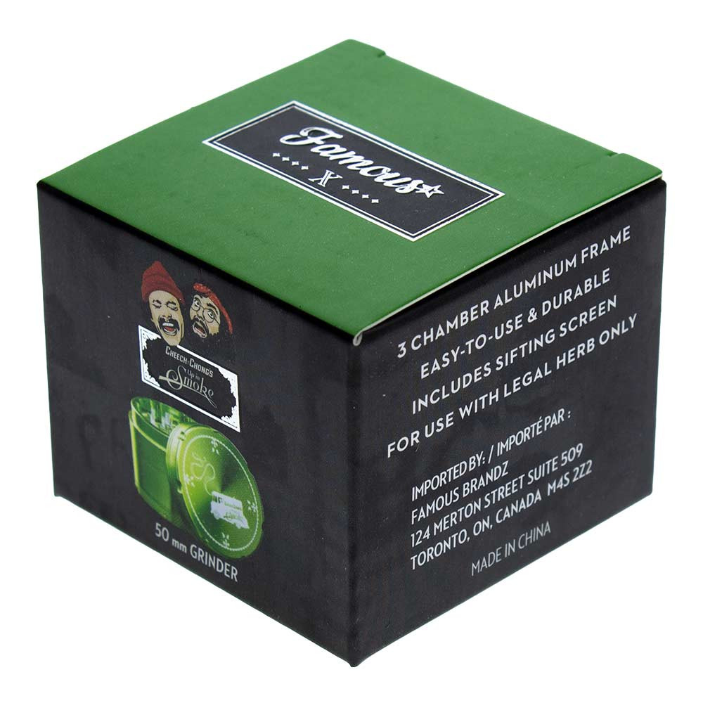 Each Cheech and Chong Grinder comes individually packaged in a nice little box ready to gift.
