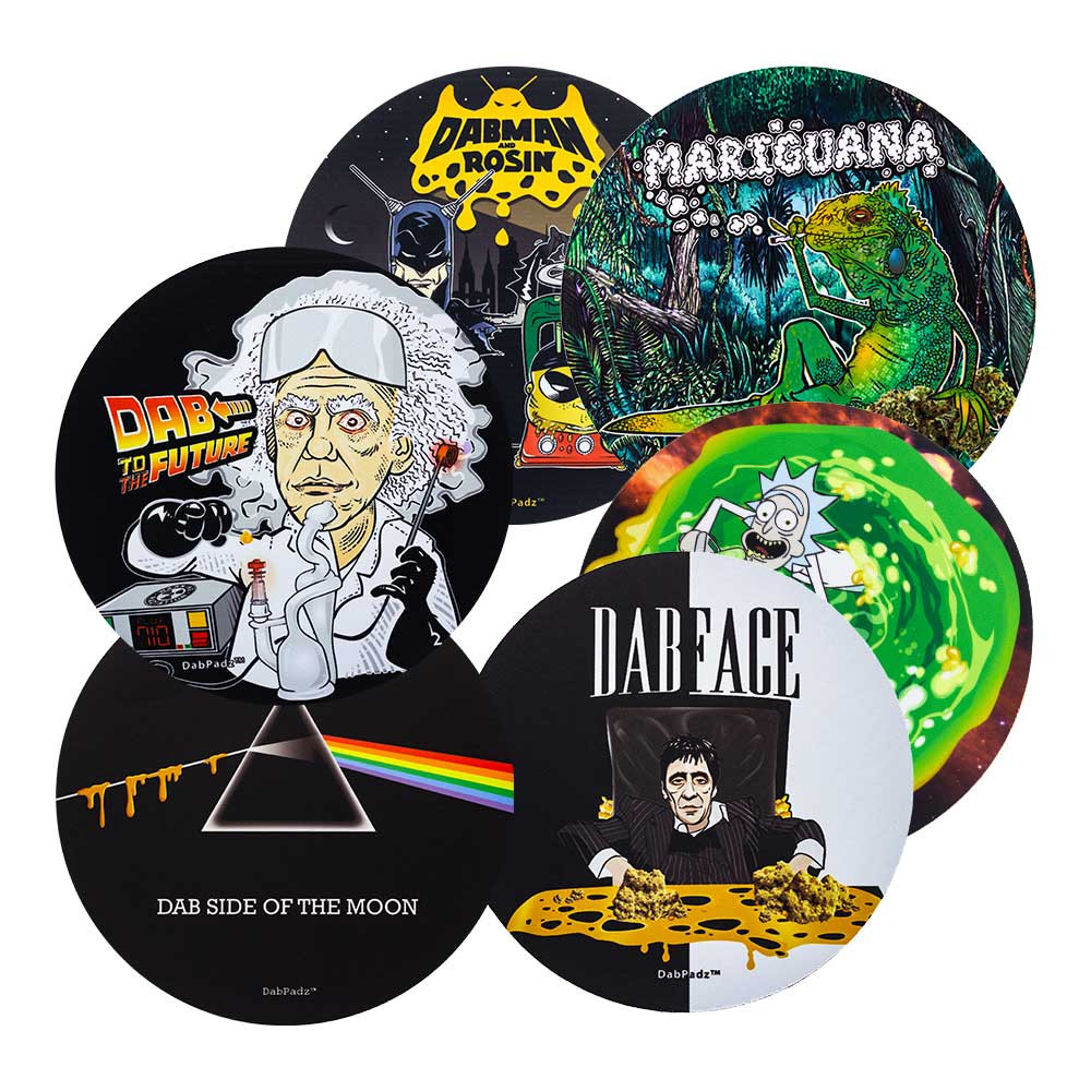 back to the future Round Dab Pads & Mats