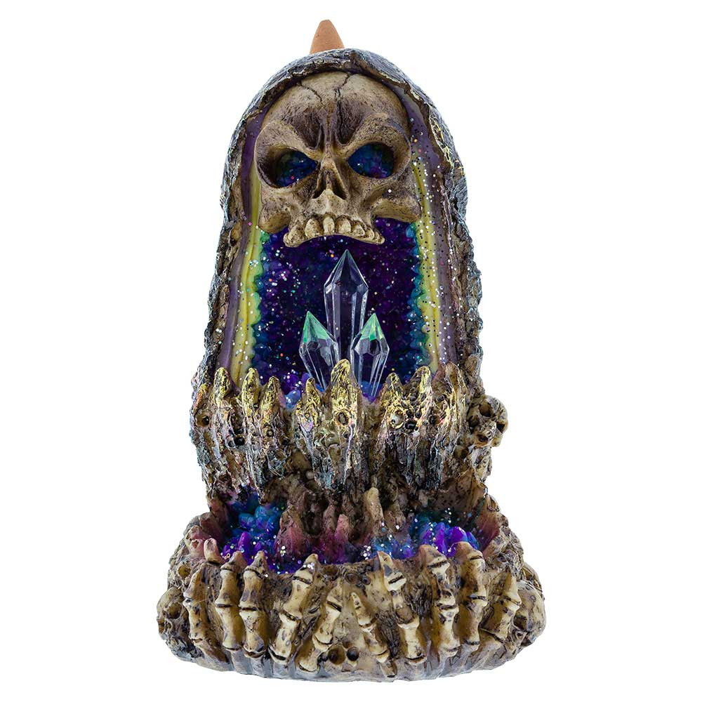 Skull and Bones Crystal Geode Backflow Burner for sale
