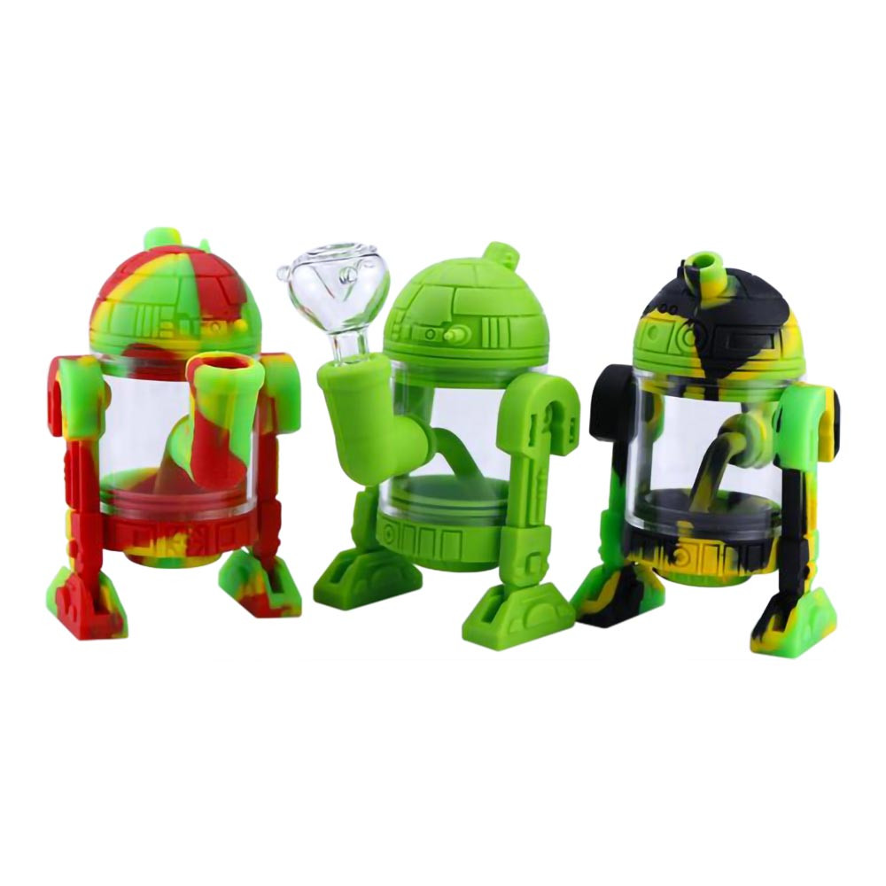 Silicone R2-D2 Robot Waterpipe various colors
