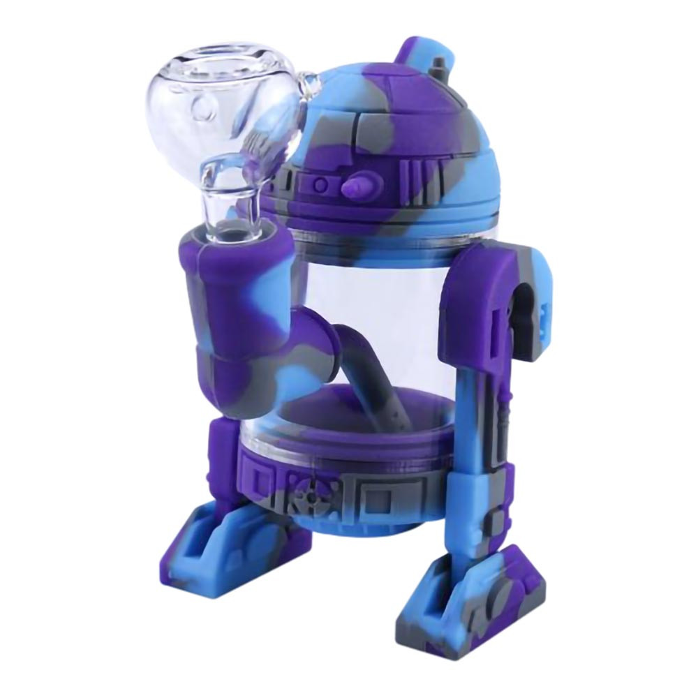 Silicone Robot Waterpipe R2-D2 smoking pipe