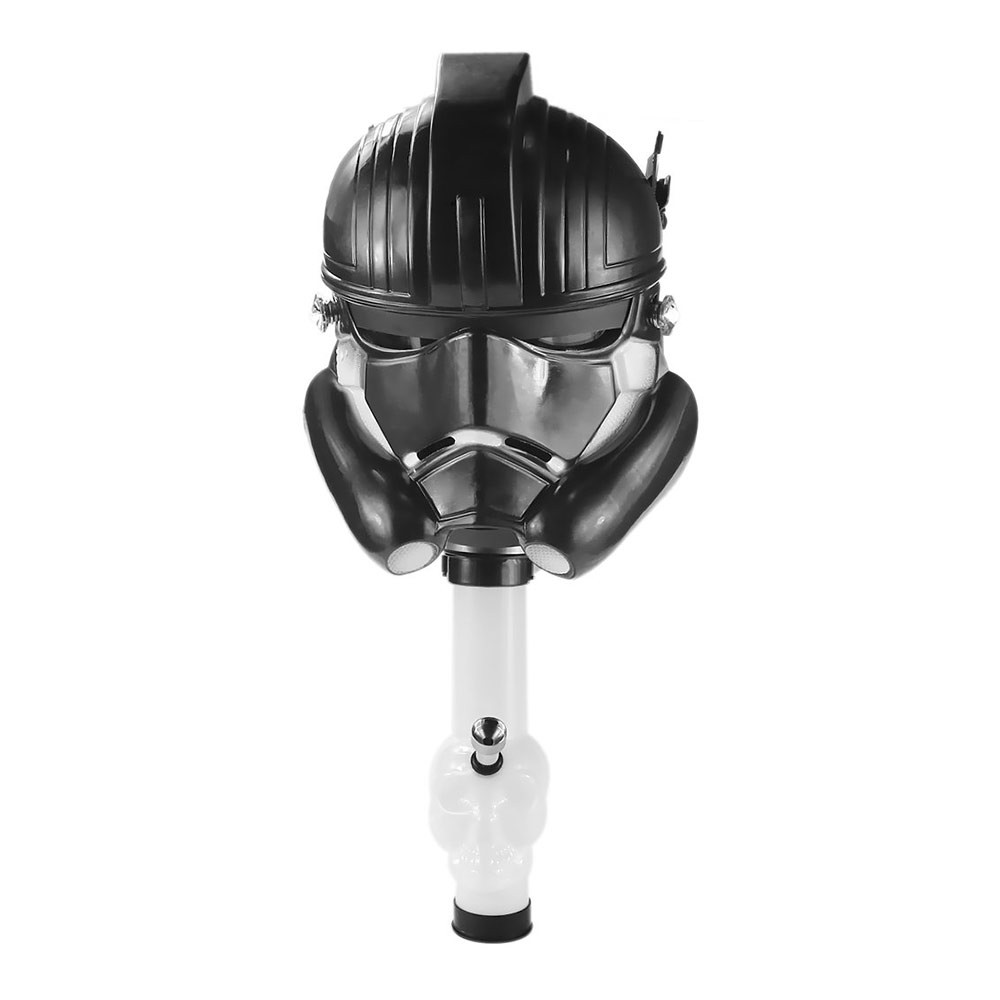 Stormtrooper Gas Mask with Skull Tube in black