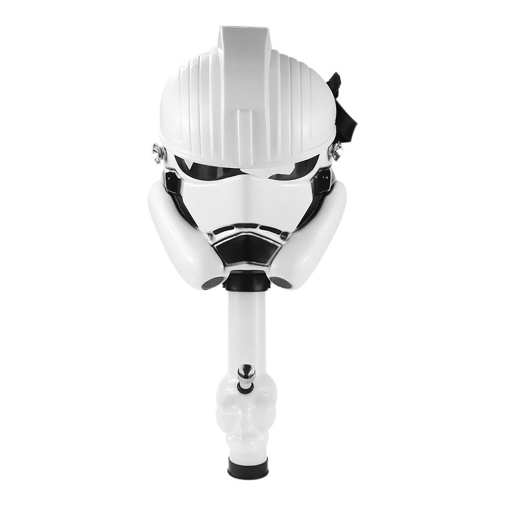 Stormtrooper Gas Mask with Skull Tube in white