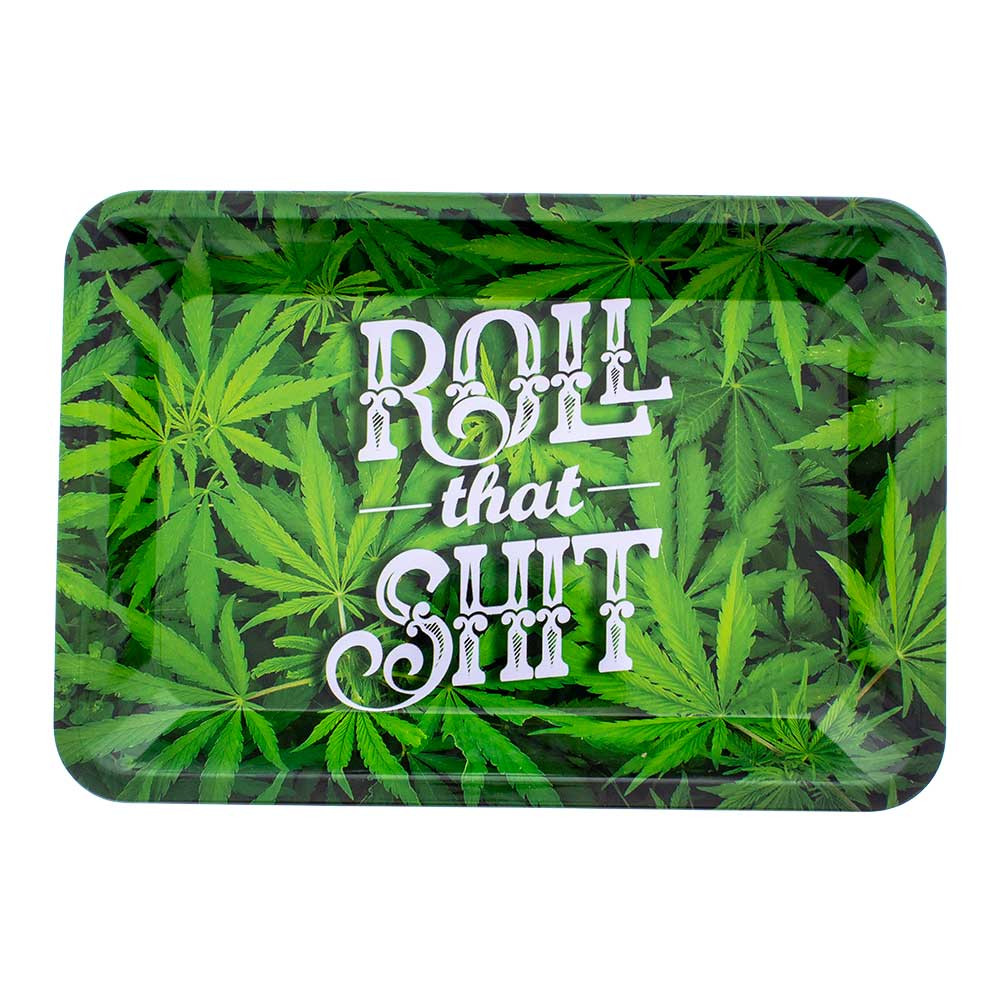 Graphic Rolling Tray  roll that shit pot leaf marijuana leaf tray