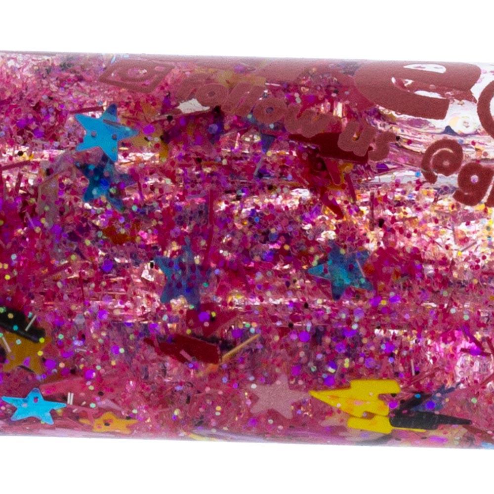 Freezable Glass Galaxy Glitter Chillum close up