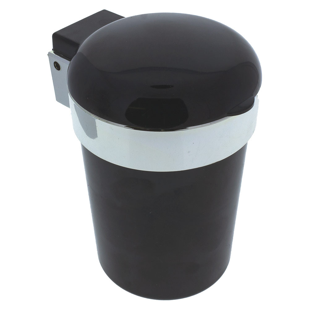 Closed, this ashtray is compact and inconspicuous. The cup of this tray can fit in a car's cup holder easily.