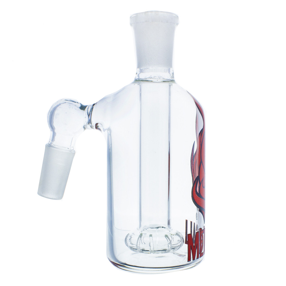 14mm Male Joint Size Medicali ashcatcher with red and black medicali logo on the front.