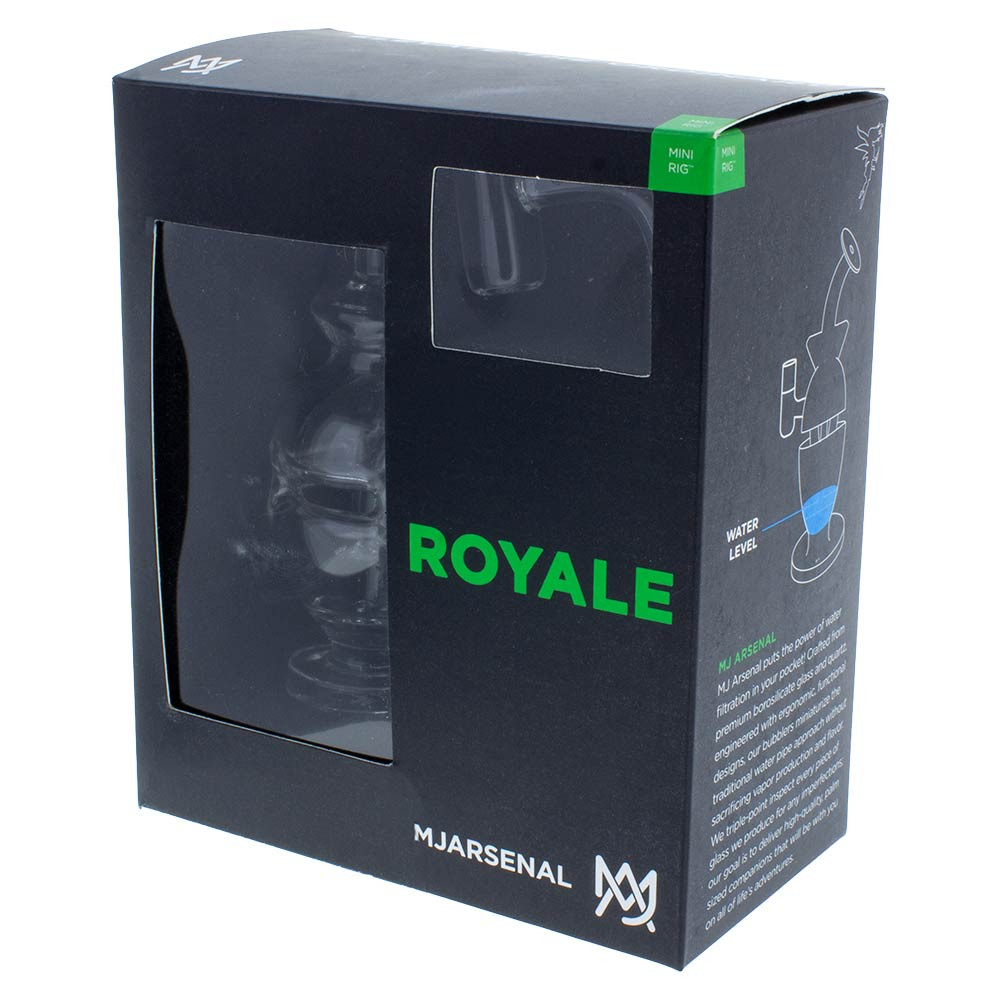 Quarter view of the Royale Mini Rig boxed.